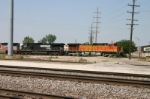 Some BNSF power shows up to grab MBRCKCK and leave